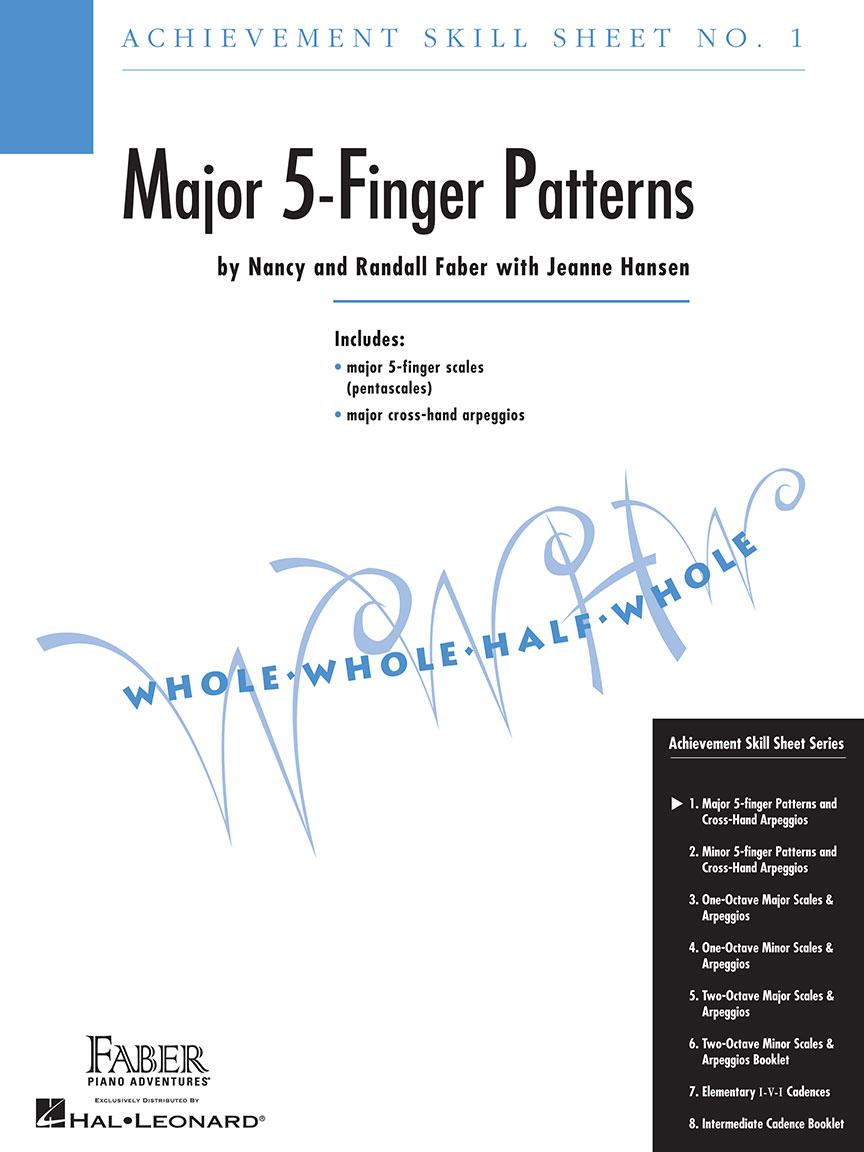 minor 5 finger patterns achievement skill sheet no 2