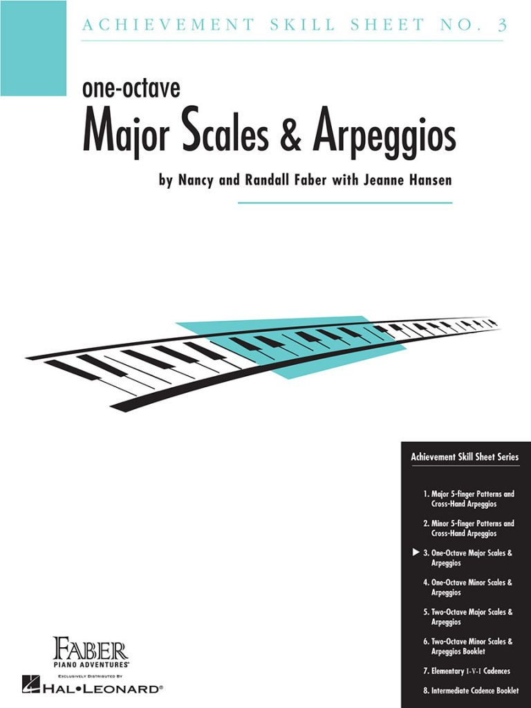 Achievement Skill Sheet No. 3: One-Octave Major Scales & Arpeggios