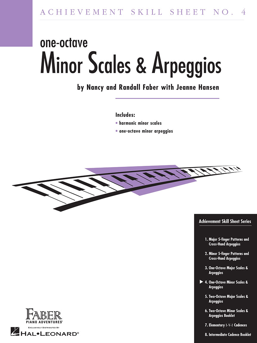 Achievement Skill Sheet No. 4: One-Octave Minor Scales & Arpeggios