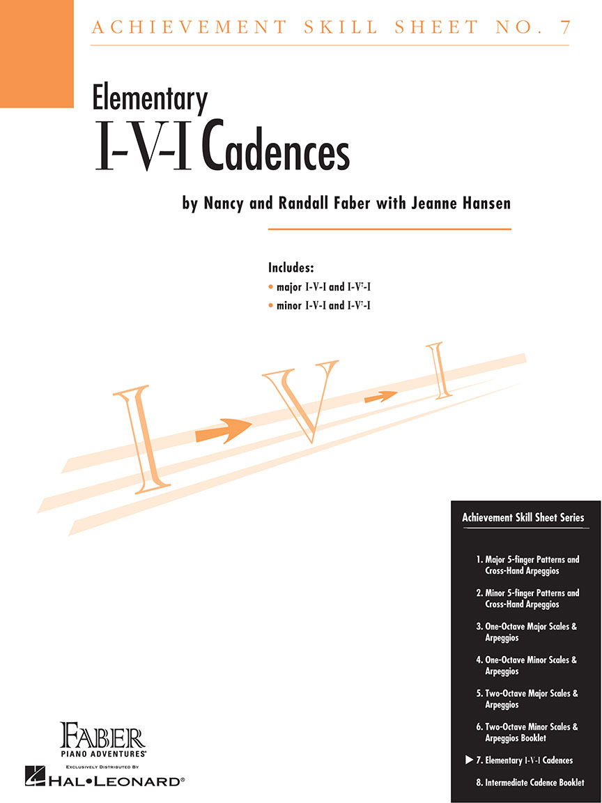 Achievement Skill Sheet No. 7: I-V-I Cadences