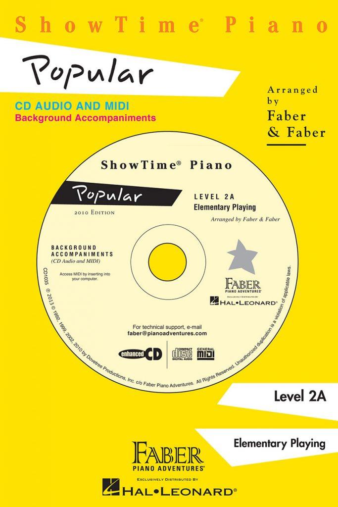 Showtime&reg Piano Popular CD