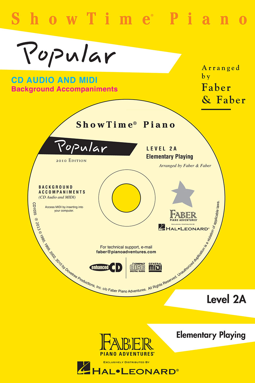 Showtime&reg Piano Popular CD