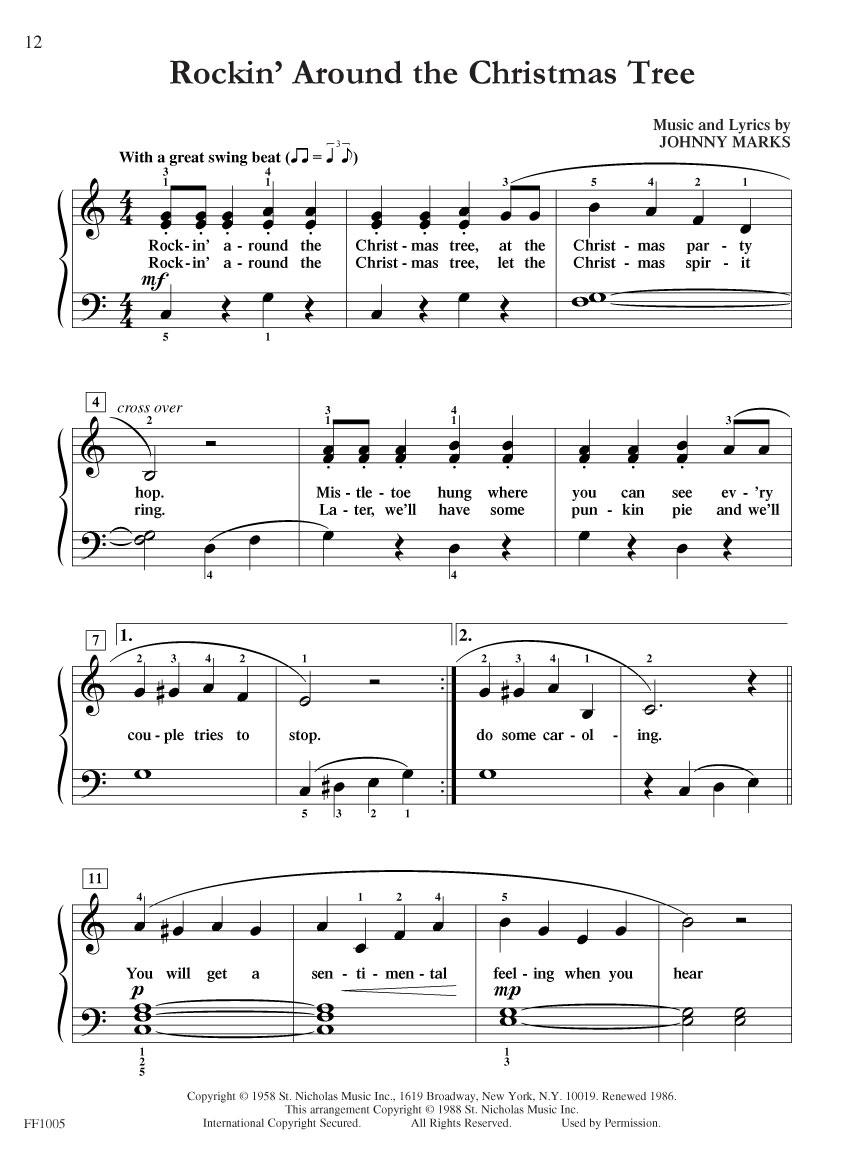 Rockin Around The Christmas Tree Piano Sheet Music.Chordtime Piano Christmas