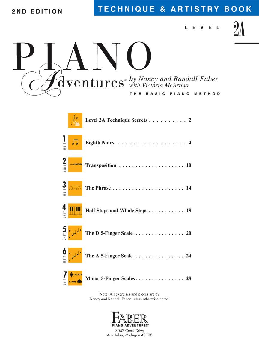 Piano Adventures Technique /& Artistry Book Level 2A