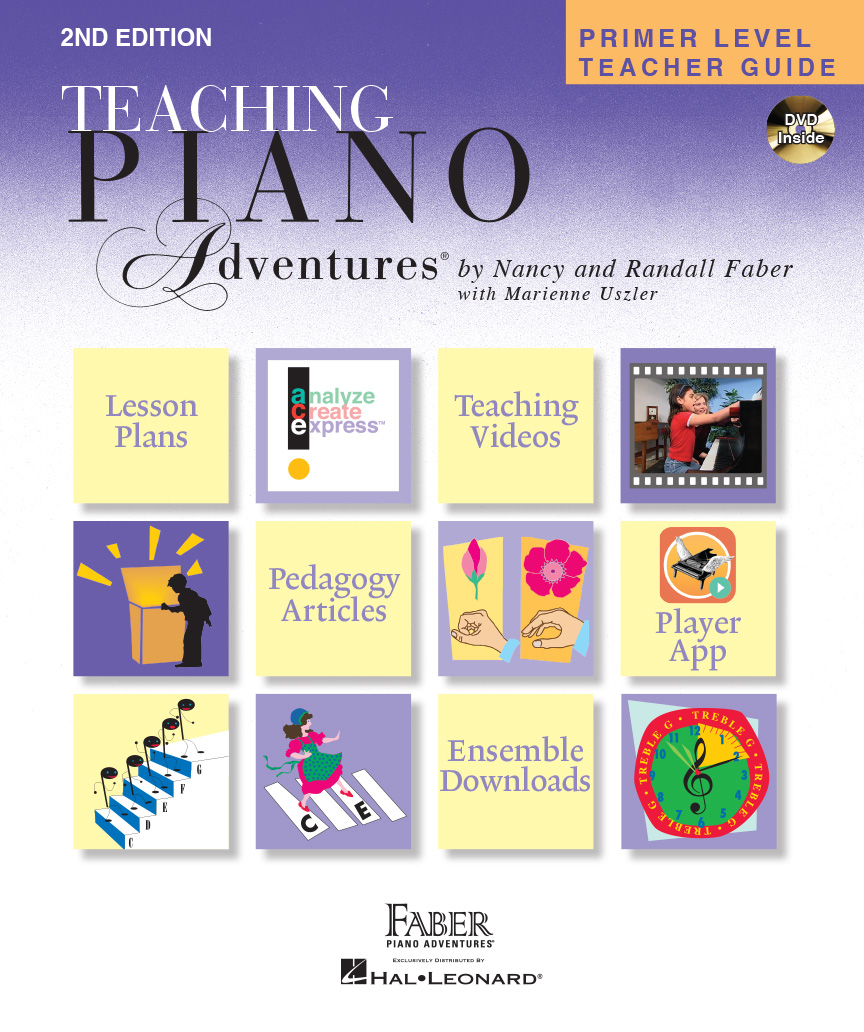 primer level teacher guide faber piano adventures with dvd