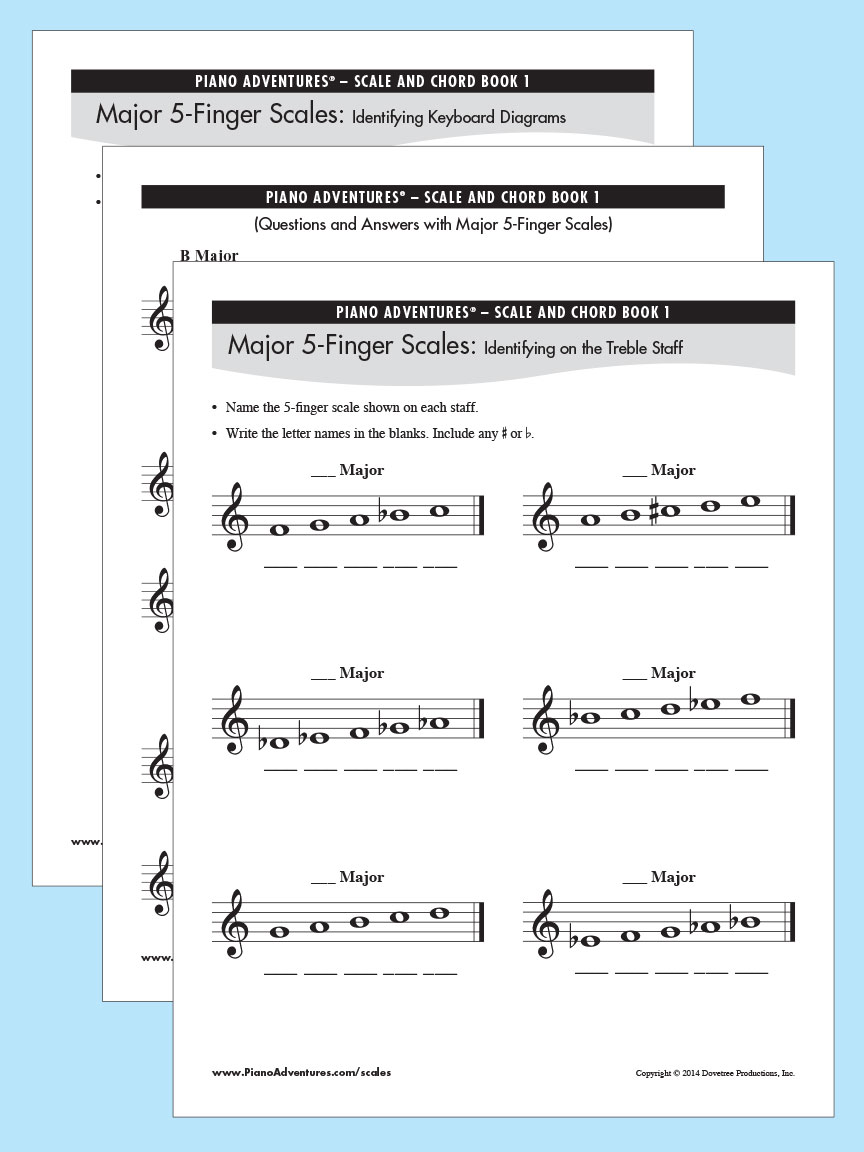 photograph relating to Piano Scales Printable known as Printable Husband or wife Internet pages for Scale and Chord Reserve 1 Faber