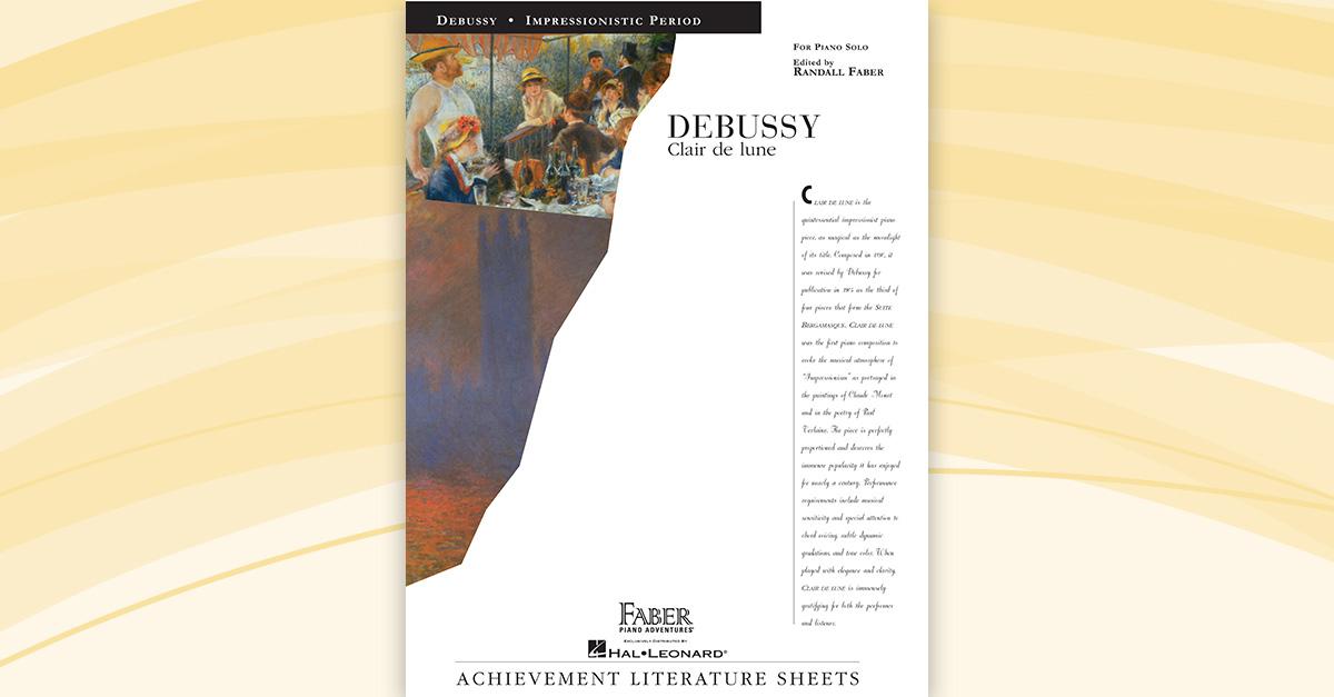 Debussy Clair De Lune Faber Piano Adventures