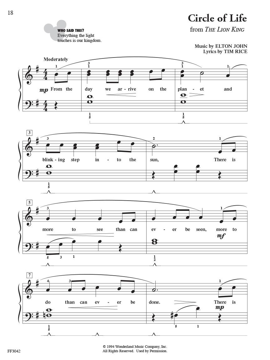 Chordtime Piano Disney Faber Piano Adventures