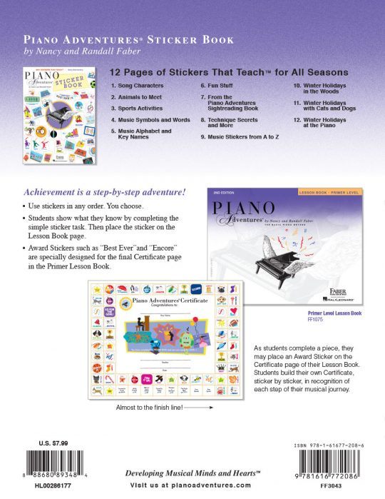 Piano Adventures® Sticker Book