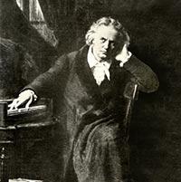 Beethoven At Desk