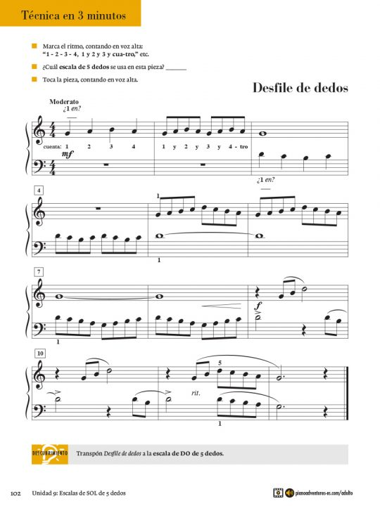 Adult Piano Adventures® Course Book 1 (Spanish Edition)